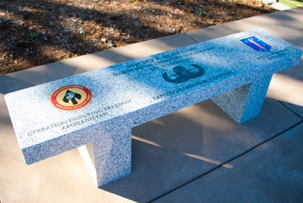 Veterans Monument - Bench